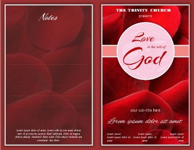 9 best Church Bulletins and Program Templates images on Pinterest - church program