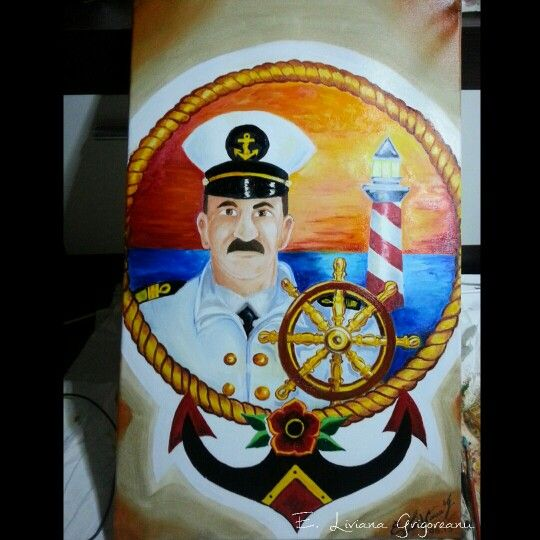 #oil on canvas #captain #tattoo #paint