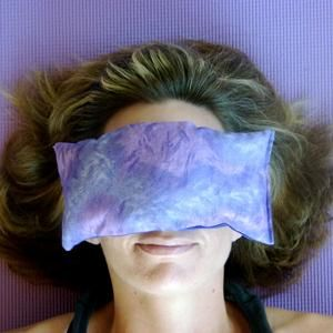 Flax seed and lavender eye pillow. Best thing ever for sinus headache or migraine