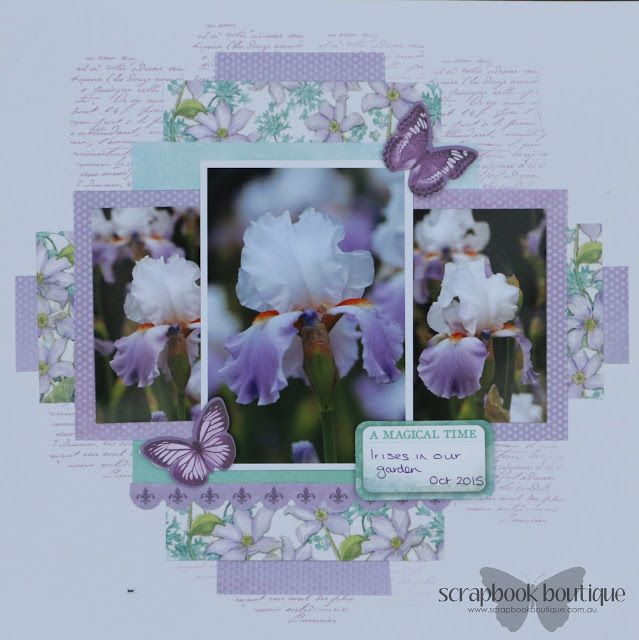 Created by Judith Armstrong for Scrapbook Boutique work using Kaisercraft Fairy Dust