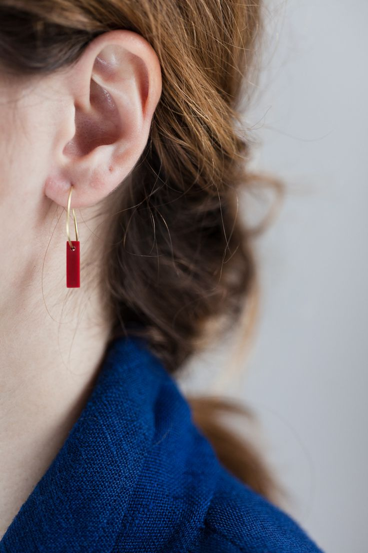 earring - lu - Anna Lawska Jewellery / collection - back to basic - /  photo - PION