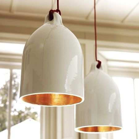Best 25 ceramic light ideas on pinterest lighting suspended pendant lighting from lekker home via apartment therapy sculptural pendant with copper interiors aloadofball Image collections