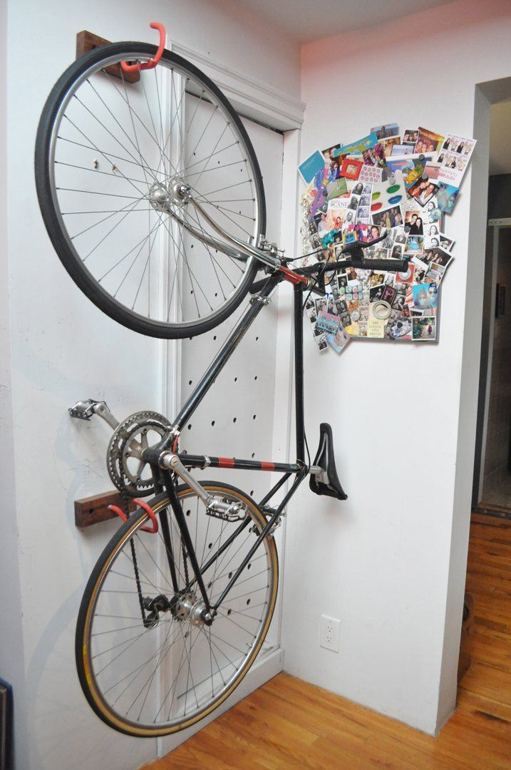 best 25 vertical bike rack ideas on pinterest wall bike rack bike storage and hanging bike rack. Black Bedroom Furniture Sets. Home Design Ideas
