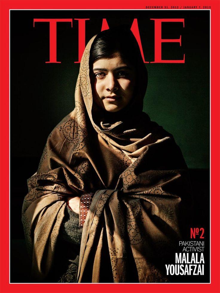 Además de la de Obama, Time creó otras portadas para su número diciembre-enero. Esta es la de Malala Yousafzai.