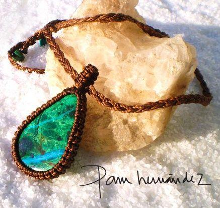 Turqoise Macrame necklace*