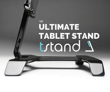 "With over $200,000 in funding and 3,000 backers on Kickstarter, tstand is the ULTIMATE tablet accessory! It has been dubbed ""a Netflix binge-watcher's dream"". Check it out at www.tstand.com or the Kickstarter page!"