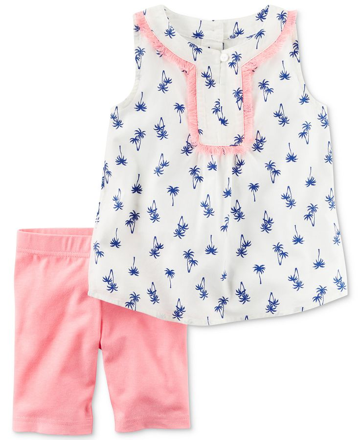 Carter's 2-Pc. Palm-Print Tunic & Shorts Set, Baby Girls (0-24 months) - Baby Girl (0-24 months) - Kids & Baby - Macy's
