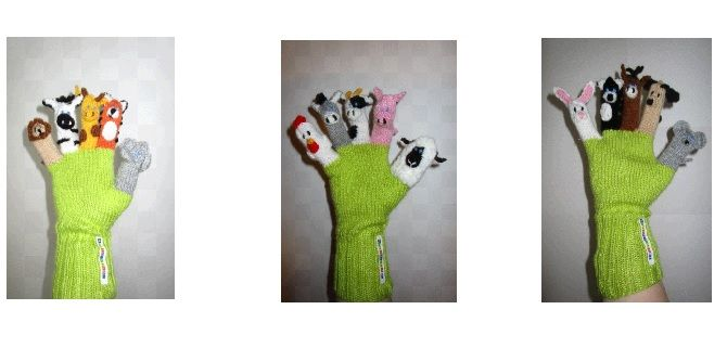 Rasselbande: Spielhandschuhe, Fingerpuppen, Fingerpuppen - Set ...
