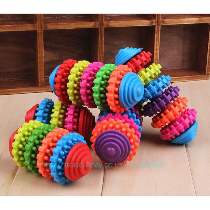 cool durable rubber pet dog puppy cat dental teething healthy teeth gums chew toy gb
