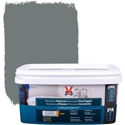 V33 renovatieverf muurtegels Satijn Carbonaat 2L geen primer nodig. Ook beschikbaar voor vloerverf. Voor de wc en eventueel de badkamer?
