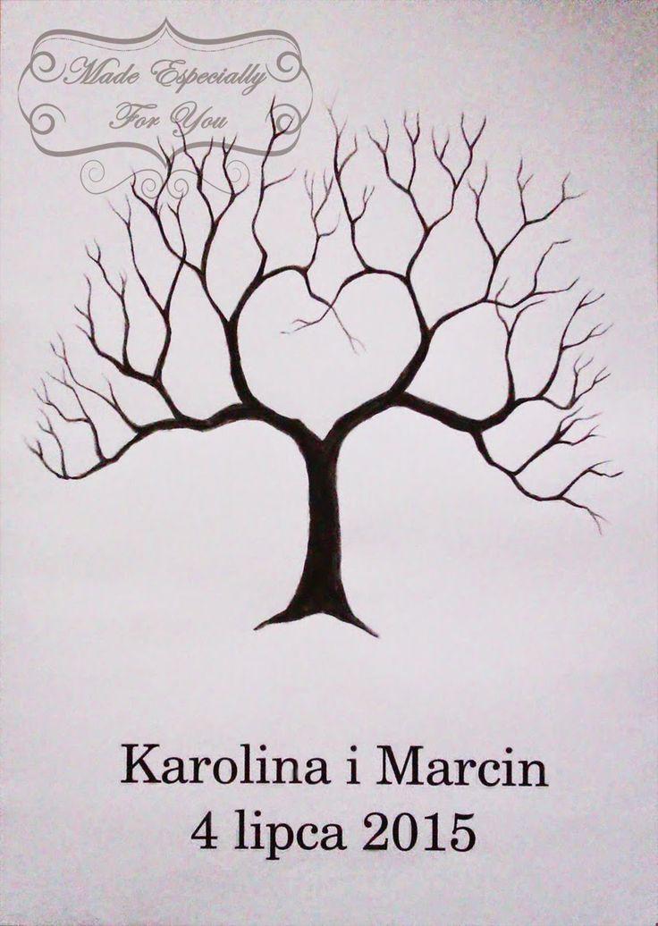 Biała konwalia: Księga gości - drzewko