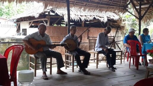 Listening to some local folk music. Vietnam