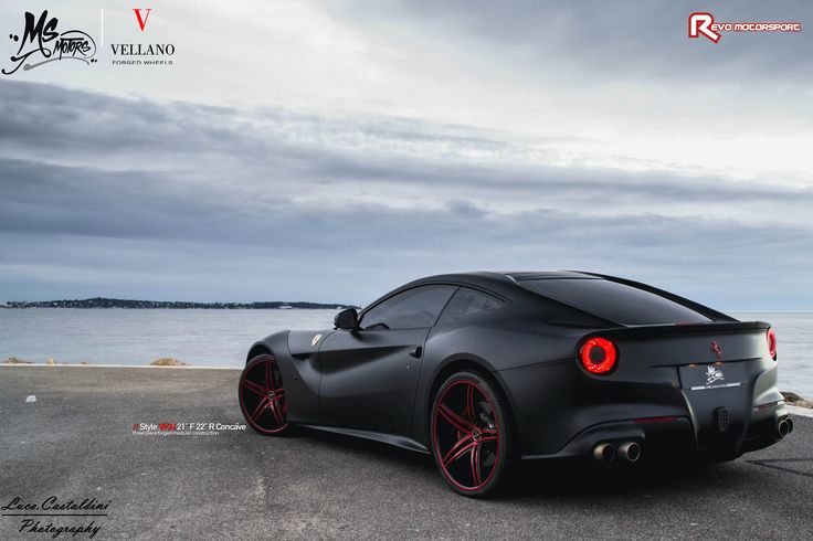 "Check out this Staggered set of Vellano VKN 21"" Front and 22"" Rear on this stunning Ferrari F12"