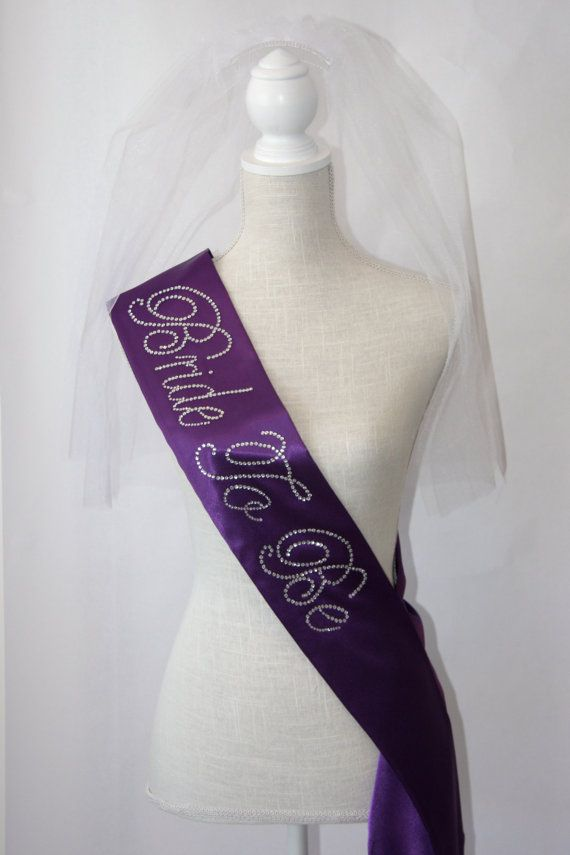 Bride To Be- Bachelorette Sash - Royal Purple on Etsy, $27.00