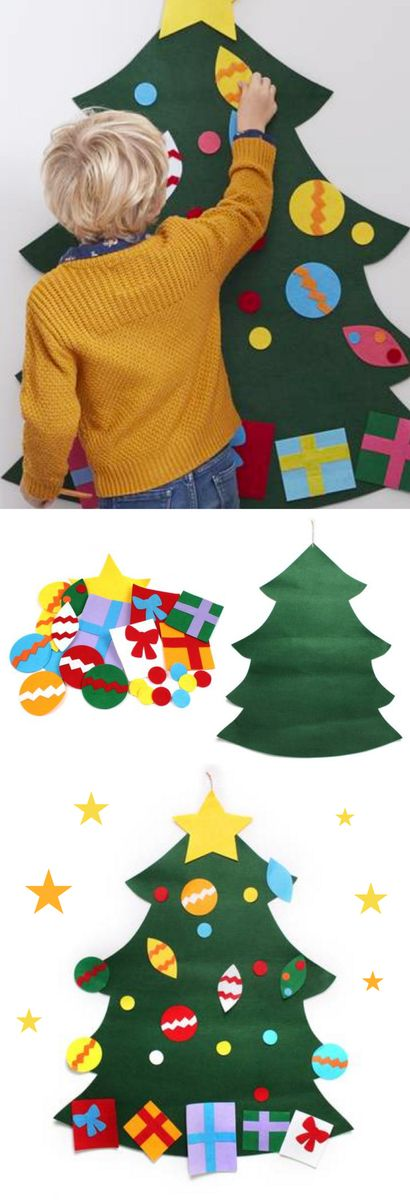 hanging felt christmas tree for kids to decorate 6 hobbycraft - Best Christmas Tree Deals