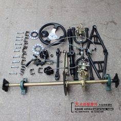 Karting accesorios ATV suspensión vehículo rueda eje delantero frenos el eje trasero del volante modificado transmisión