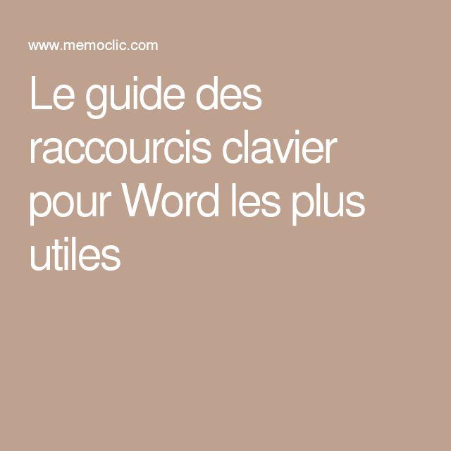 Le guide des raccourcis clavier pour Word les plus utiles