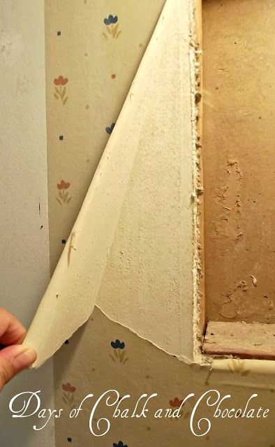 I feel like we're gonna need this one day.....Days of Chalk and Chocolate: How to Remove Wallpaper