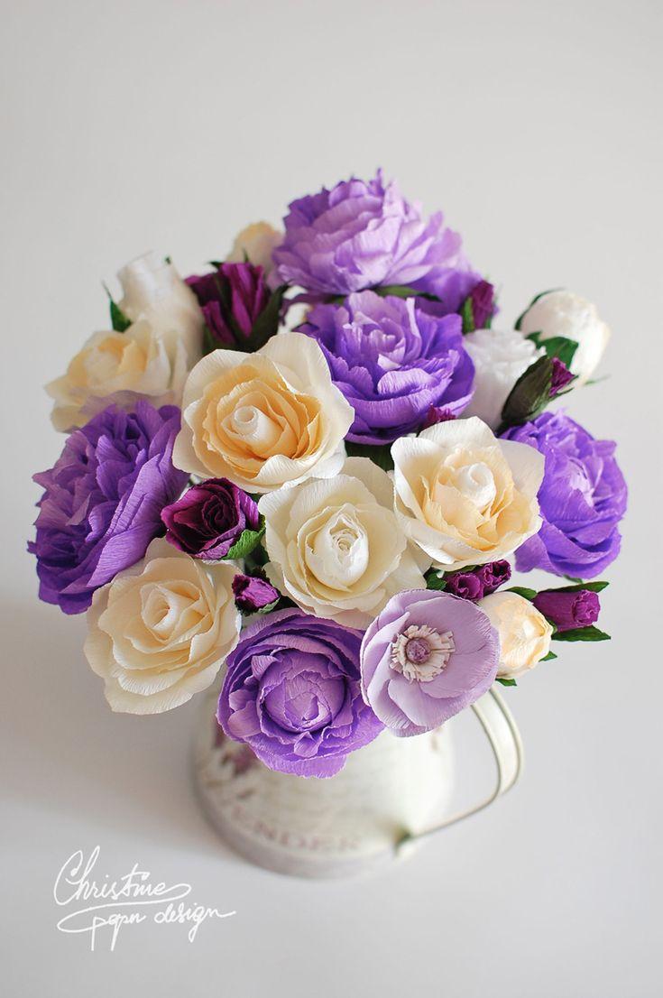 Flori de hârtie- O alternativă a buchetului clasic de mireasă | http://nuntaingradina.ro/flori-de-hartie-o-alternativa-buchetului-clasic-de-mireasa/