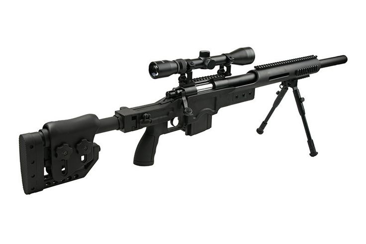 Replika karabinu snajperskiego MB4410D - z lunetą i dwójnogiem | Repliki Airsoft \ Repliki sprężynowe \ Karabiny snajperskie | Gunfire.pl - repliki Airsoft! asg, airsoftguns, militaria, broń, repliki broni
