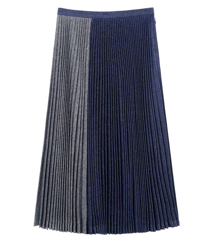 デニムプリーツスカート-94
