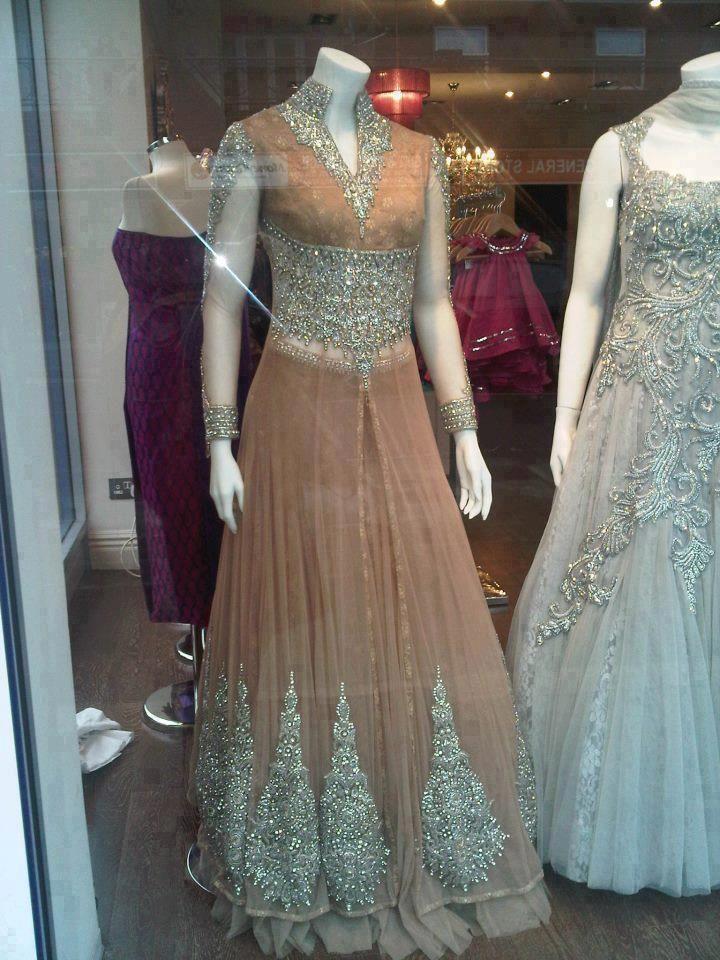 Beautiful anarkali - indian and pakistani bridal dress
