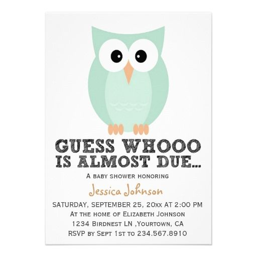 16 top owl baby shower invitations