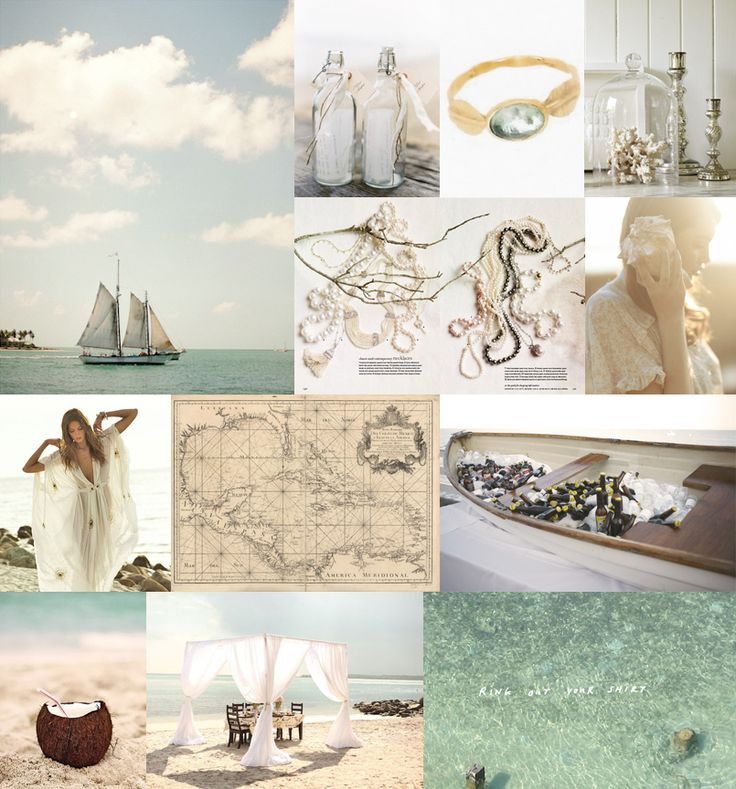 love all of this: Weddings Inspiration Boards, Boho Chic, Travel Chic, Color, Romantic Weddings, Beaches Themed, Beaches Weddings, Sea Glasses, Weddings Idea