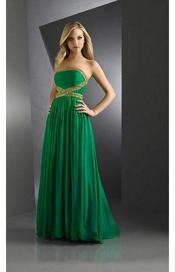 Green Long Prom Dresses