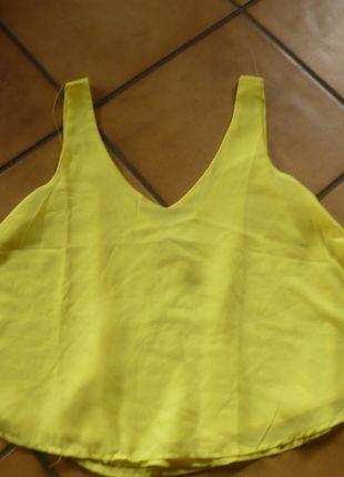 A vendre sur #vinted ! http://www.vinted.fr/femme/debardeurs/15177906-debardeur-jaune-avec-voile-dos-nus