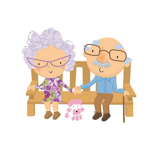 Stella Baggott  --  old folk -  Don't you just love seeing old folk holding hands.