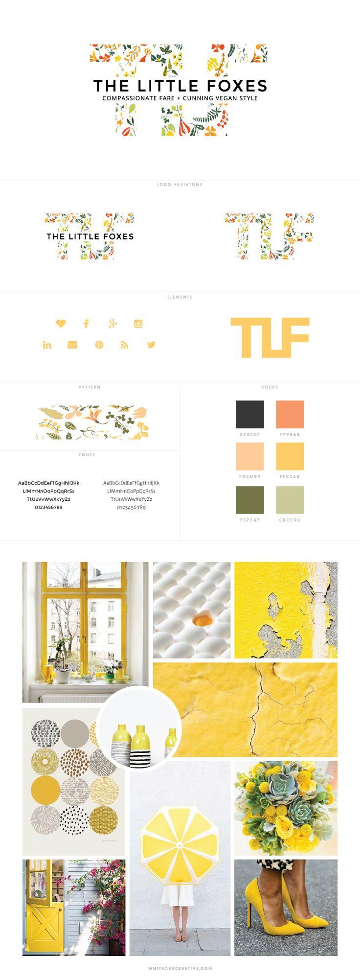 The Little Foxes Blog Design by White Oak Creative - logo design, wordpress theme, mood board inspiration, blog design idea, graphic design, branding