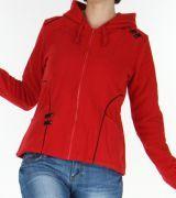 veste pour femme en polaire style tribal et color butwal rouge est actuellement disponible sur le - Veste Colore Femme