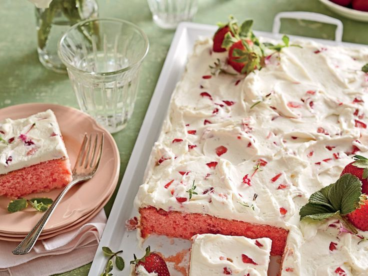 """Trust us: This simple and swoon-worthy sheet cake will be a keeper in your recipe box. File it under """"Springtime Crowd-pleaser."""""""