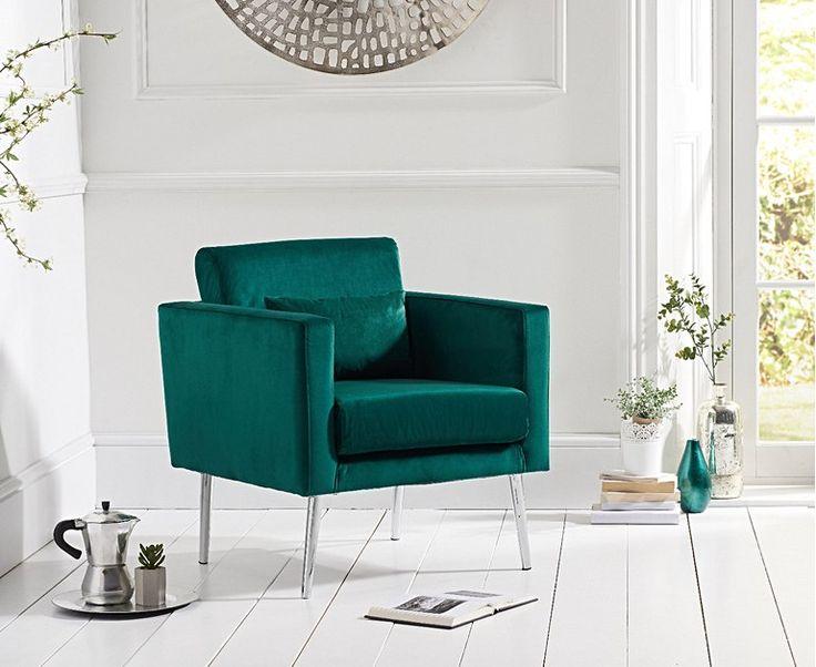 Best James Green Velvet Accent Chair Blue Velvet Accent Chair 400 x 300
