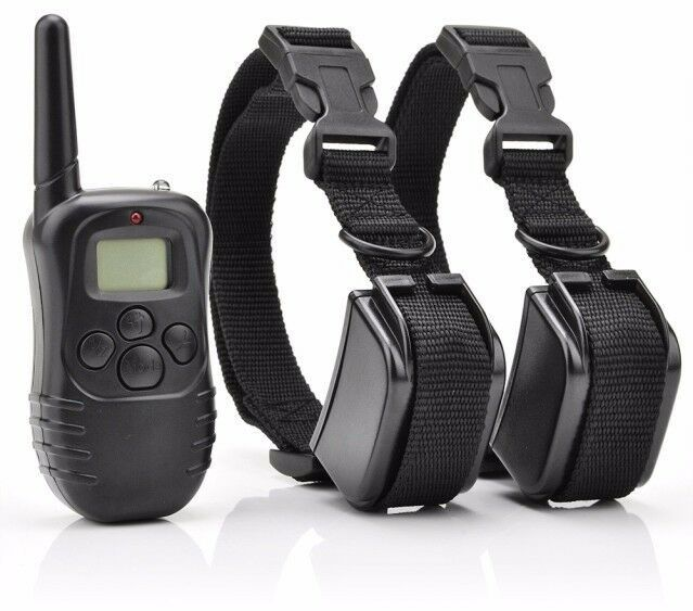 Pet Dog Training Shock Collar Lcd 300m Remote Electric