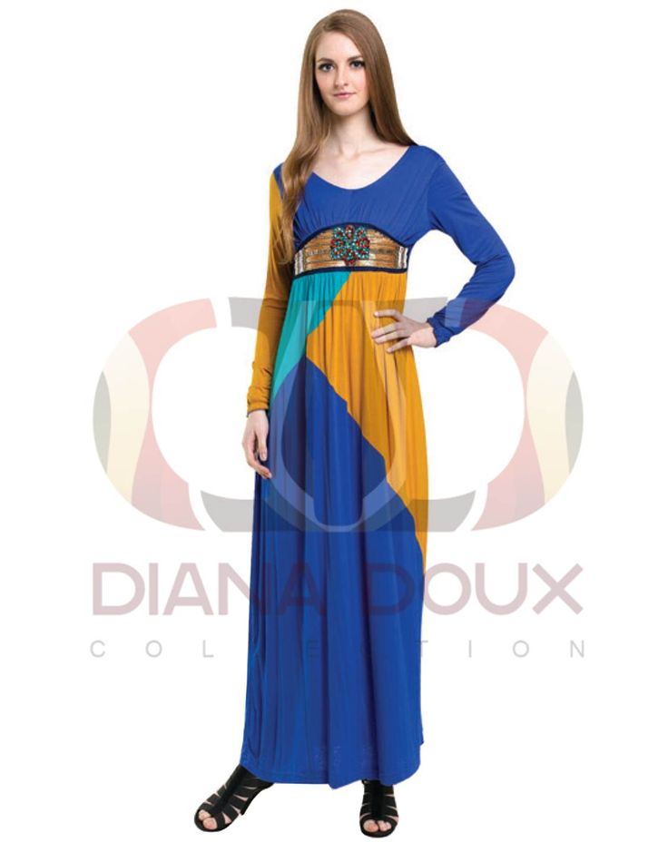 OWJ124-38  Mix Color Jubah Dress with Beads  Color: BLUE Size: FREE SIZE Weight: 480g Material: Lace + Cotton Measurement: > Shoulder: 33cm  > Sleeve: 56cm  > Length: 134cm  > Bust: 82-90cm Category: Jubah Dress Type: Ready StocK