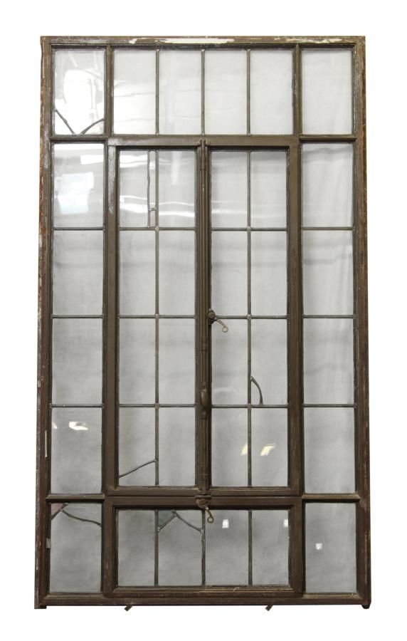 1920s Wisconsin Steel Casement Window Unit With Accents
