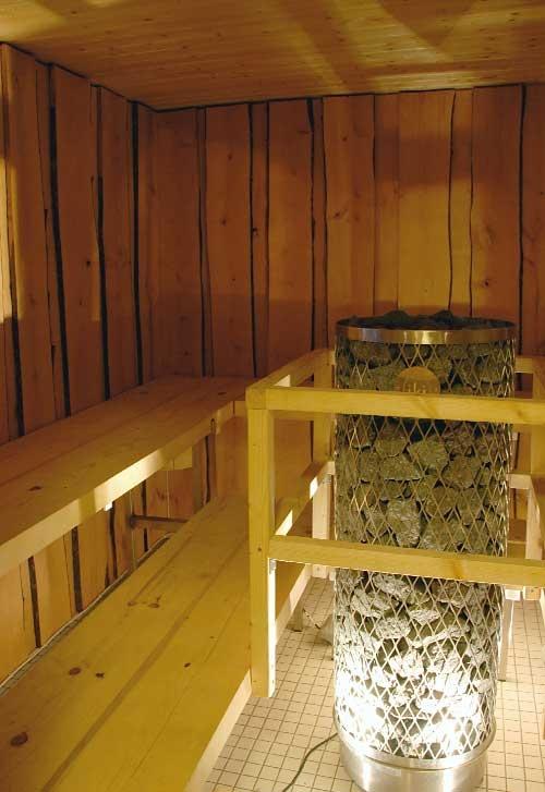 Enjoy the warmth of the Finnish sauna