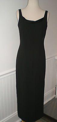 LAUNDRY SHELLI SEGAL LONG BLACK LOW BACK DRESS SEXY EXCELLENT SHAPE SZ 2