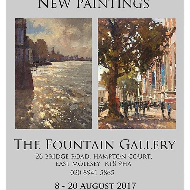 #JohnWalsom has an exhibition of new #paintings from 8-20 August at The Fountain Gallery in East Molesey, Surrey, UK #artist #event #colours #people #places