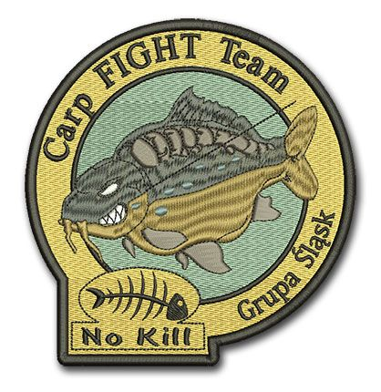 Naszywka Carp Fight Team No Kill Grupa Śląsk