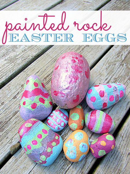 Fun and easy Easter craft for kids. rock easter eggs from no time for flash cards