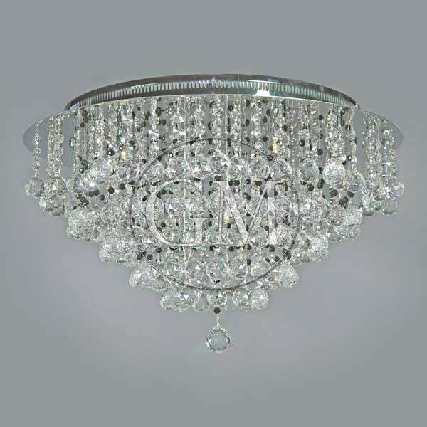 20 Luxema Ceiling Flush Mount Crystal Lighting Fixture Chandelier W 8 Lts Ch