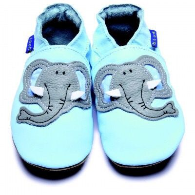 Blue Boys Shoes with Elephant Motif by Inch Blue