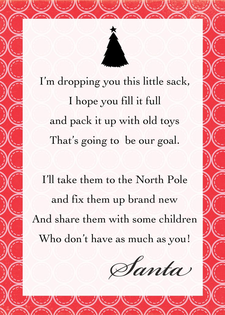 thecraftingchicks.com 1,500×2,100 pixels. Note to attach to Santa Sack, what a great way to teach children about giving!                                                                                                                                                                                 More