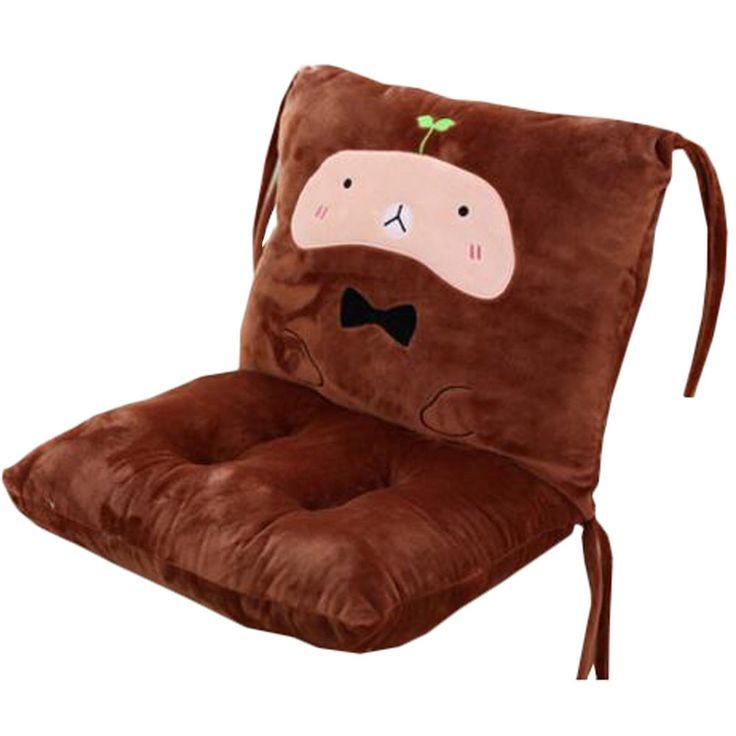 Removable Sofa Cushion Student Thicker Cushion Office Chair Cushion Pillow Brown
