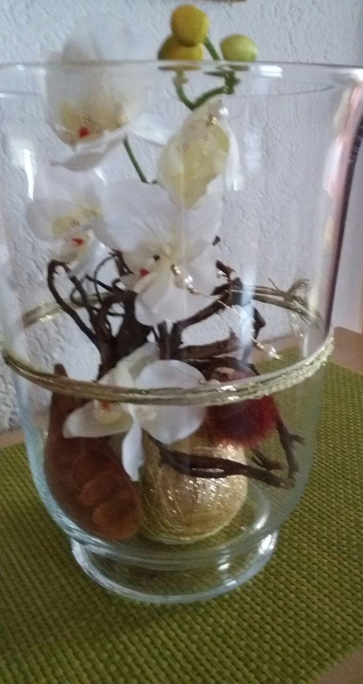 Edle Seidenorchideen  Goldkugel Sisaltechnik designed by Giggi
