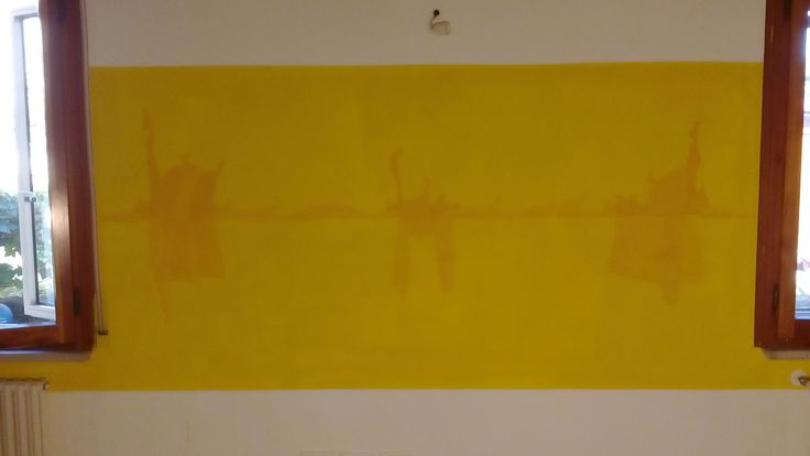 Sul filo . Casa/Laboratorio Ass. MagaCamaja. Pittura murale di Oreste Sabadin