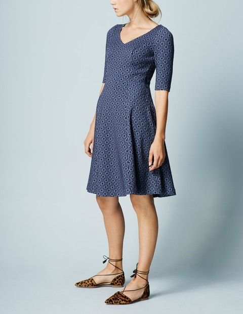 Floral Jacquard Dress WH970 Smart Day at Boden